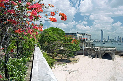 Stock Photo: 1566-434247 UNION CLUB BEACH CASCO ANTIGUO SAN FILIPE PANAMA CITY REPUBLIC OF PANAMA
