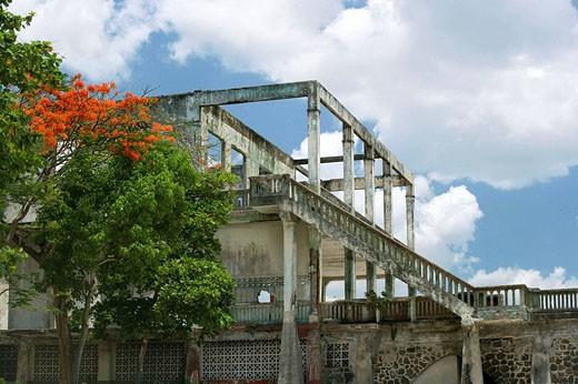 BOND MOVIE STEPS, UNION CLUB CASCO ANTIGUO SAN FILIPE PANAMA CITY REPUBLIC OF PANAMA : Stock Photo