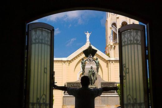 PLAZA BOLIVAR CASCO ANTIGUO SAN FILIPE PANAMA CITY REPUBLIC OF PANAMA 1 OF 3 PHOTO SEQUENCE : Stock Photo