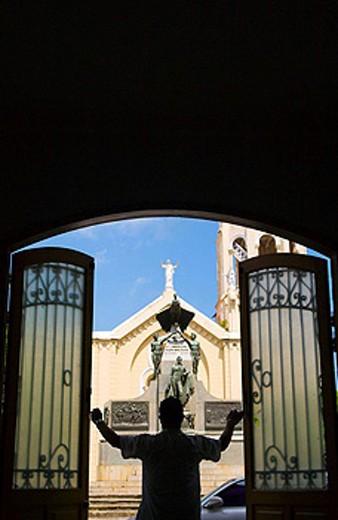 PLAZA BOLIVAR CASCO ANTIGUO SAN FILIPE PANAMA CITY REPUBLIC OF PANAMA 1 OF 2 PHOTO SEQUENCE : Stock Photo