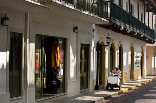 Stock Photo: 1566-434288 RASPADOR ICE MAKER SAN MIGUEL CASCO ANTIGUO SAN FILIPE PANAMA CITY REPUBLIC OF PANAMA