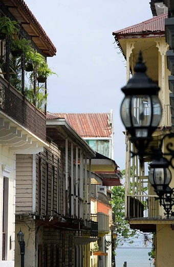 COLONIAL HOMES CALLE SAN MIGUEL CASCO ANTIGUO SAN FILIPE PANAMA CITY REPUBLIC OF PANAMA : Stock Photo