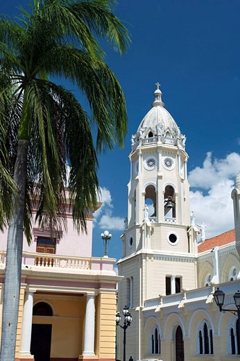 SAINT FRANCIS OF ASIS, NATIONAL THEATER CASCO ANTIGUO SAN FILIPE PANAMA CITY REPUBLIC OF PANAMA : Stock Photo