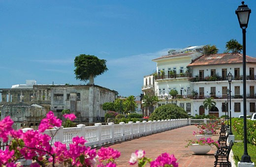 UNION CLUB PROMENADE CASCO ANTIGUO SAN FILIPE PANAMA CITY REPUBLIC OF PANAMA, : Stock Photo
