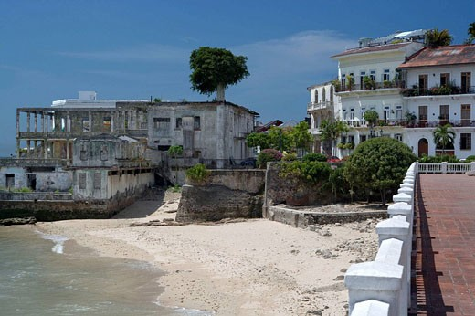 Stock Photo: 1566-434333 UNION CLUB BEACH CASCO ANTIGUO SAN FILIPE PANAMA CITY REPUBLIC OF PANAMA