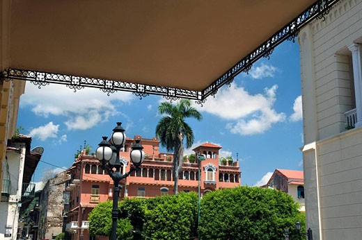 PLAZA BOLIVAR CASCO ANTIGUO SAN FILIPE PANAMA CITY REPUBLIC OF PANAMA : Stock Photo