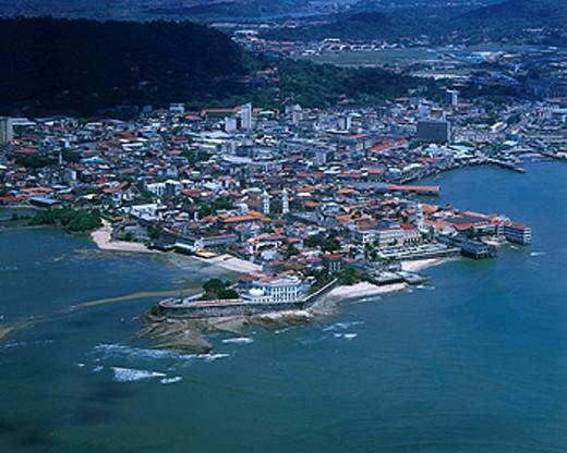 AERIAL CASCO ANTIGUO SAN FILIPE PANAMA CITY REPUBLIC OF PANAMA : Stock Photo