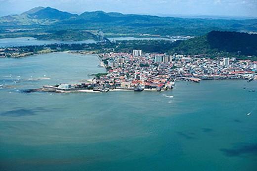 Stock Photo: 1566-434416 AERIAL CASCO ANTIGUO SAN FILIPE PANAMA CITY REPUBLIC OF PANAMA