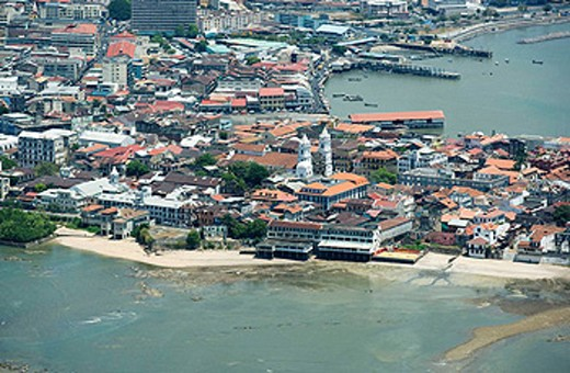 AERIAL CASCO ANTIGUO SAN FILIPE PANAMA CITY REPUBLIC OF PANAMA : Stock Photo