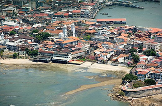 Stock Photo: 1566-434421 AERIAL CASCO ANTIGUO SAN FILIPE PANAMA CITY REPUBLIC OF PANAMA