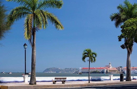 Stock Photo: 1566-434507 AVENIDA BALBOA TO CASCO ANTIGUO SAN FILIPE PANAMA CITY REPUBLIC OF PANAMA