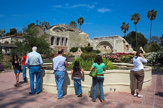 Stock Photo: 1566-435611 Great Stone Church, Mission San Juan Capistrano, Orange County, California, USA