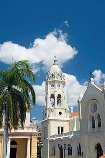 National theater and Saint Francis of Assisi. Old Town. San Filipe. Panama City. Panama : Stock Photo