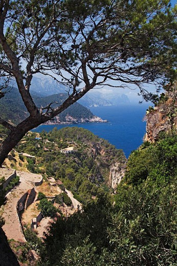 At the atalya de Ses Animes near Banyalbufar, Tramuntana mountains, Mallorca, Baleares, Spain : Stock Photo