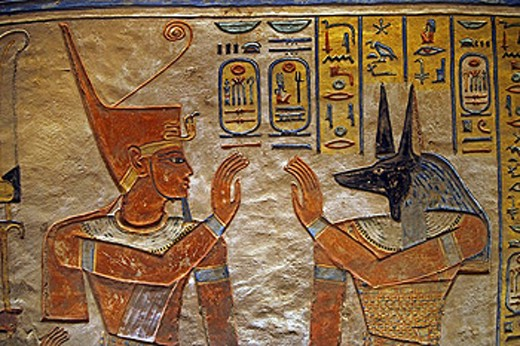 Queens Valley: detail of the Amen Khopshef tomb. Luxor west bank.Luxor. Egypt. : Stock Photo