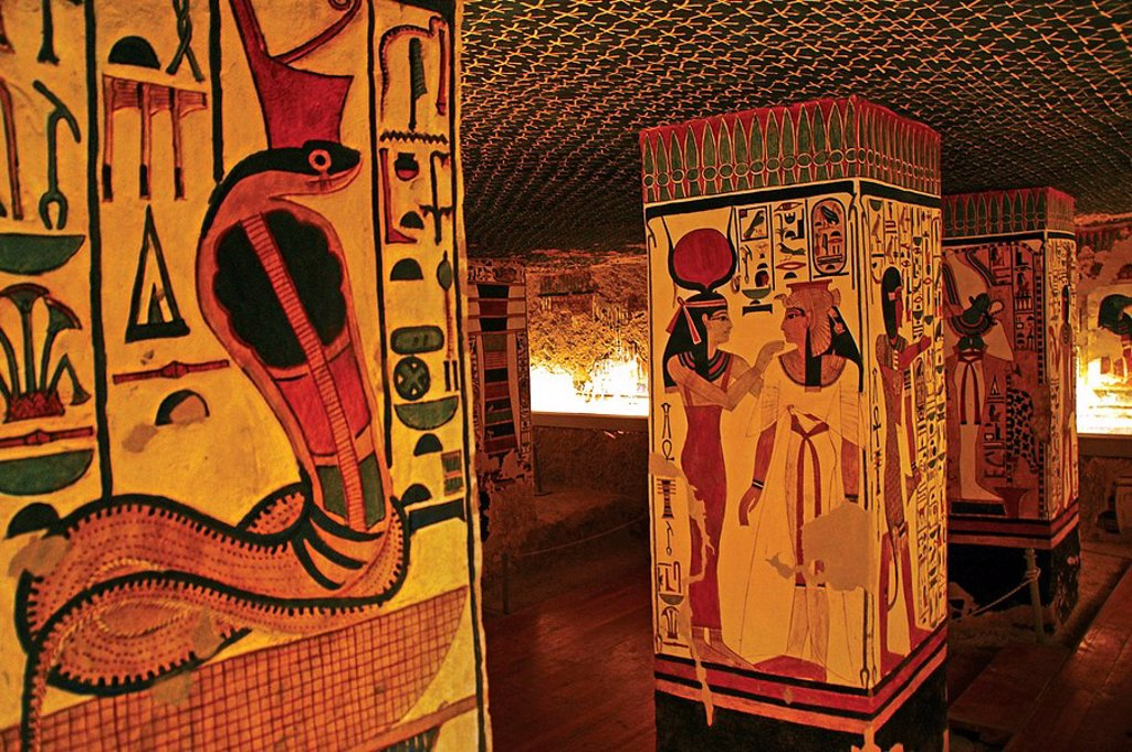 Queens Valley: Nefertari tomb, Luxor west bank. Egypt. : Stock Photo