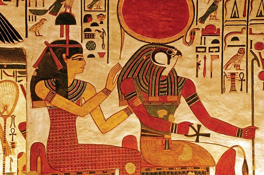 Stock Photo: 1566-437941 Valley: detail of the Nefertari tomb, Luxor west bank. Egypt