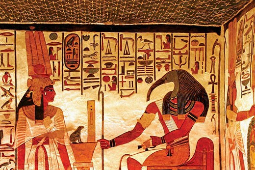 Stock Photo: 1566-437945 Egypt_Luxor_Queens Valley: detail of the Nefertari tomb,Luxor west bank.