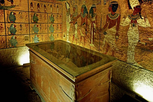 Stock Photo: 1566-437956 Kings Valley:  tumb of Tut Ank Amon. Luxor west bank. Egypt.