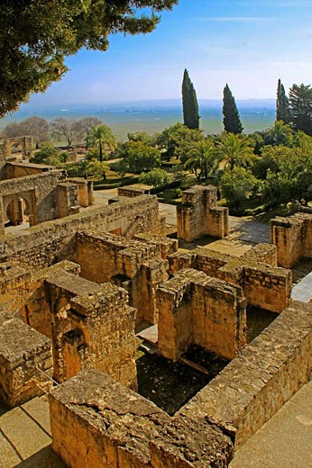 Residential area, at the  Medina Azahara ruins. Cordoba. Andalusie, Spain. : Stock Photo