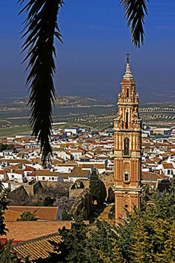 Victoria Tower at  Estepa. Andalusie, Spain. : Stock Photo
