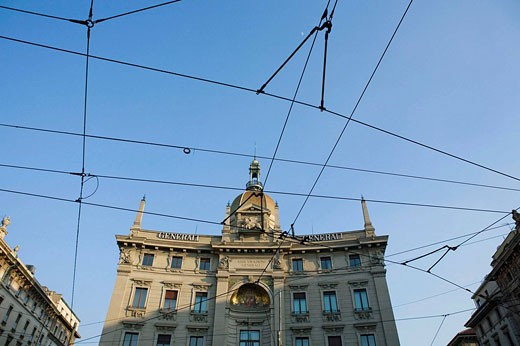 Stock Photo: 1566-439678 City of Milano. Cordusio Square. Lombardia. Italy