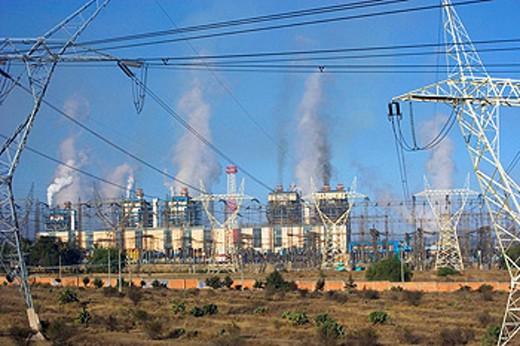 Near Tula City. Oil refinery. Mexico : Stock Photo