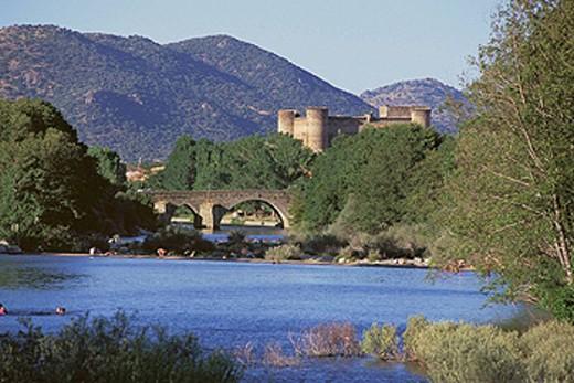 Tormes River. Barco de Ávila. Ávila. Castile-Leon. Spain. : Stock Photo