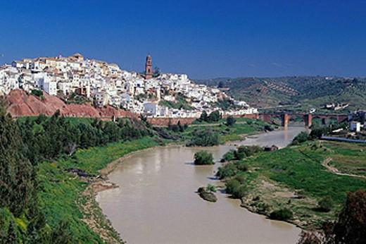 Montoro and Guadalquivir River, Córdoba province, Spain : Stock Photo