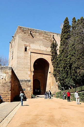 Stock Photo: 1566-441871 Tower of Justice, Alhambra, Granada. Andalucia, Spain