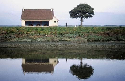 Saint Valery-Sur-Somme. Region de Picardie. France. : Stock Photo