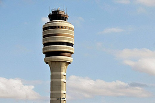Air traffic control tower orlando international airport florida : Stock Photo