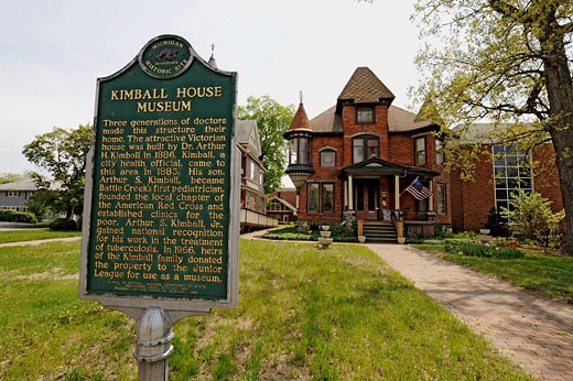 Stock Photo: 1566-442617 Kimball House Museum Battle Creek Michigan
