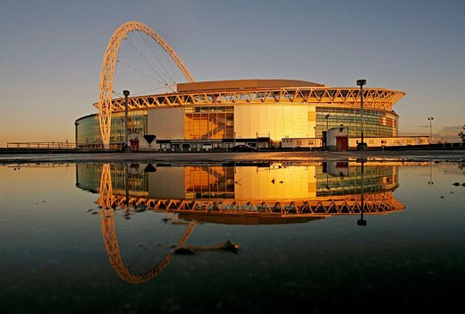 The new Wembley Stadium, London, England, UK : Stock Photo