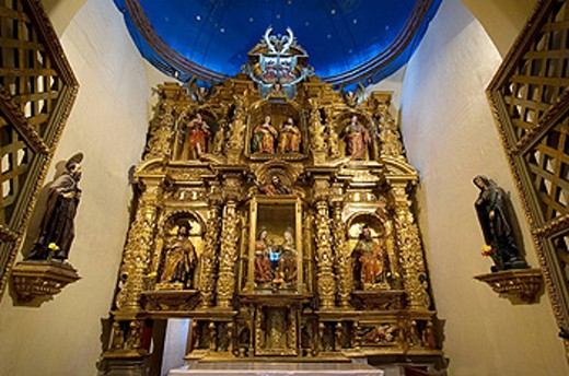 Stock Photo: 1566-443280 Quito Old Quarter, Chapel at Quito Cathedral 1557 year  Quito  Ecuador  South America  2007