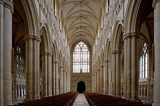 Stock Photo: 1566-444541 Beverley, Minster, founded in 8th century, built mainly 13th-14th centuries, Norman Nave, East Riding of Yorkshire, UK