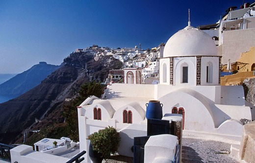 Stock Photo: 1566-444596 Fira, Santorini. Cyclades, Greece