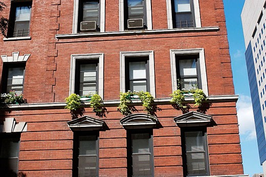Apartment building in New York City. USA. : Stock Photo