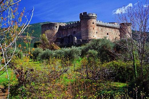 Stock Photo: 1566-446047 Duques de Alburquerque castle, Mombeltran. Avila province, Castilla-Leon, Spain