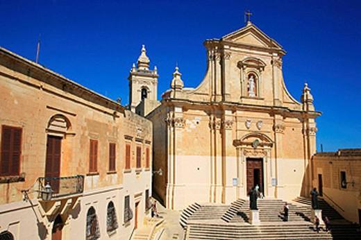 Cathedral, Victoria, Gozo. Malta : Stock Photo