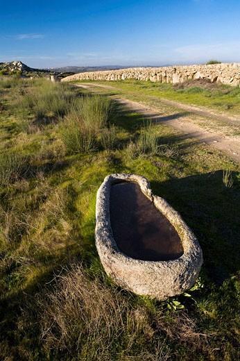 Watering place. Mieza, Arribes del Duero natural Park, Salamanca province. Castile-Leon. Spain : Stock Photo