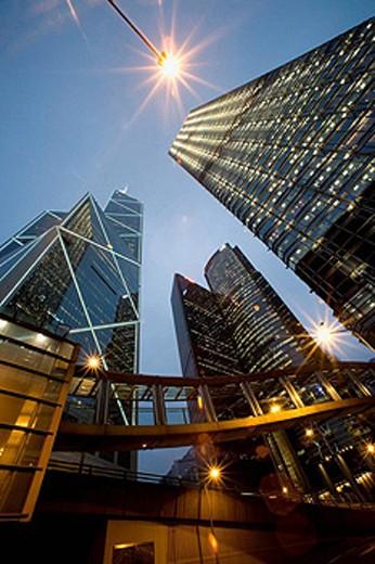 Hong Kong Central, Bank of China, Hong Kong, China : Stock Photo