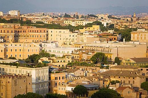 Stock Photo: 1566-448760 Celio distric as seen from Altare della Patria, Rome. Lazio, Italy
