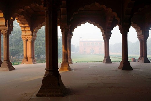 Stock Photo: 1566-451209 Inside Red Fort, Delhi, India