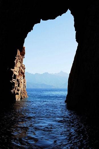 Gulf of Porto, Scandola Nature Reserve. Corse-du-Sud, Corsica, France : Stock Photo