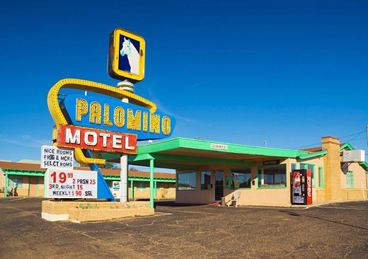 USA  New Mexico  Route 66  Tucumcari  Palomino Motel : Stock Photo