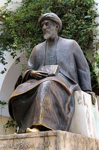 Monument to Maimonides, Cordoba. Andalucia, Spain : Stock Photo