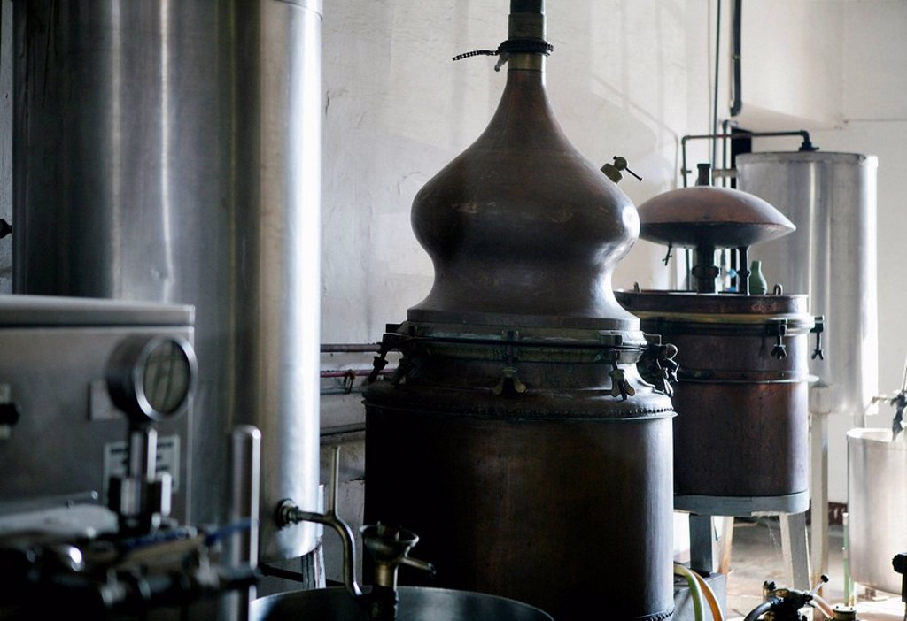 Spanish wine traditional distillery : Stock Photo