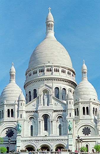 Sacre Coeur basilica, Montmartre, Paris, France : Stock Photo