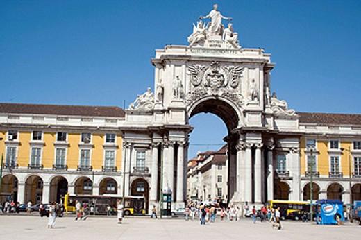 Stock Photo: 1566-454419 Praça do Comercio, Lisbon. Portugal